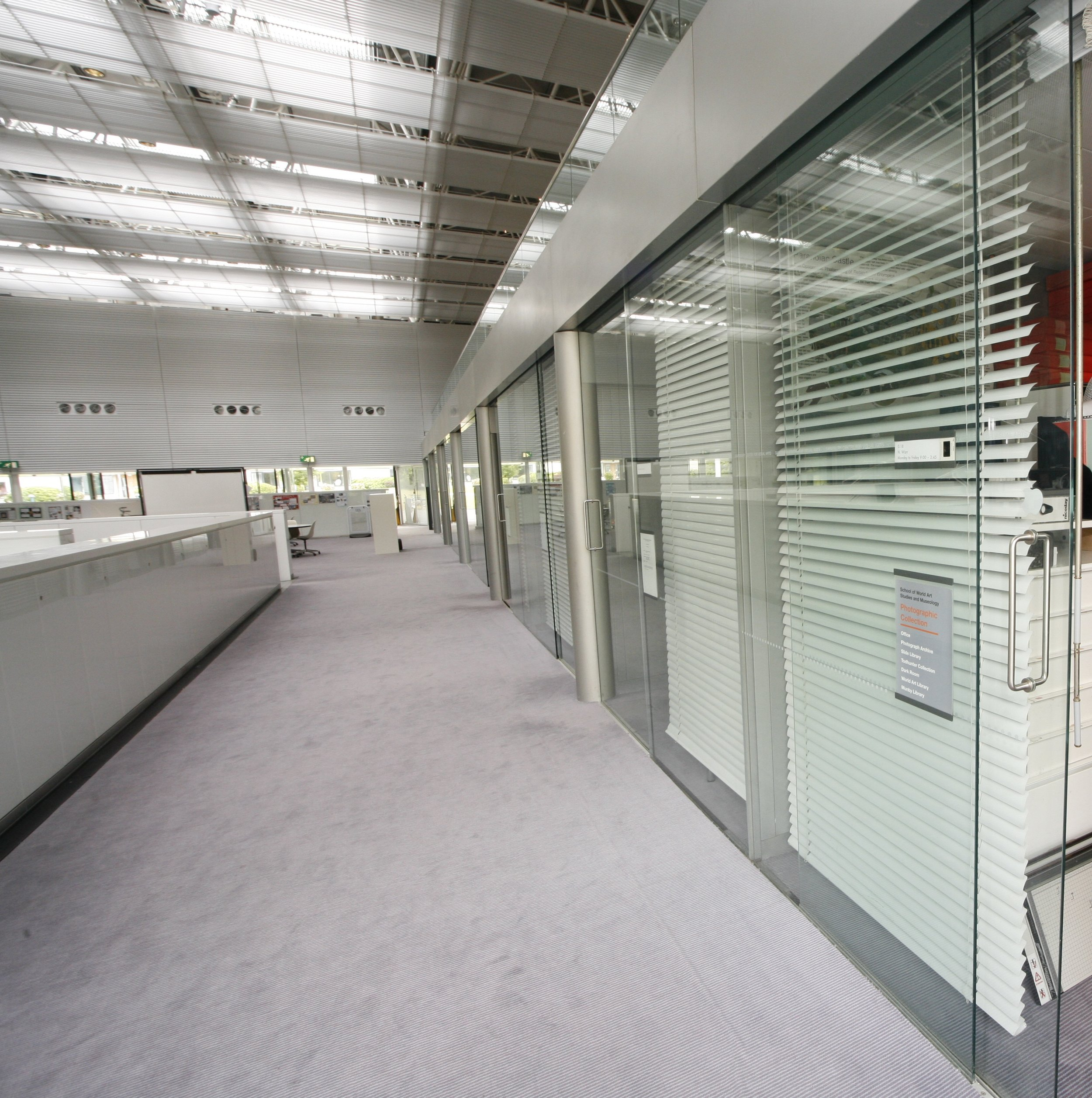 Sainsbury's Centre for Visual Arts - glazed Partitions and Wall Lining