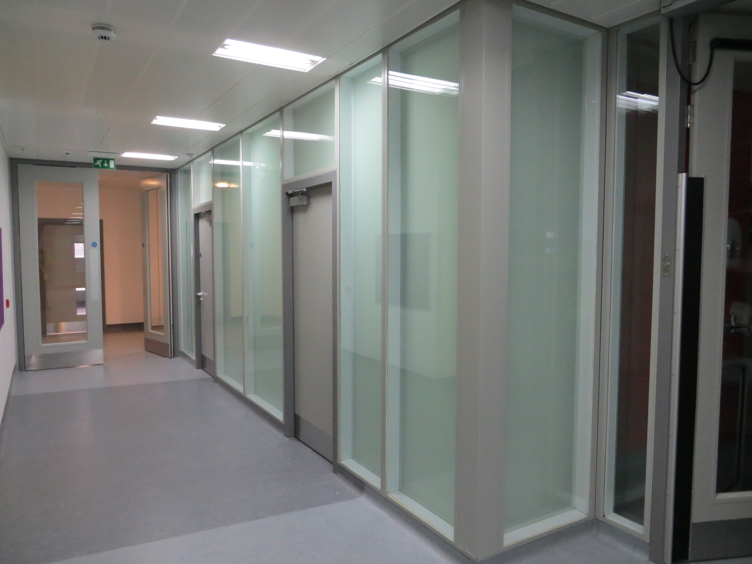 Glasgow Royal Infirmary - Glazed Partitions and Wall Lining