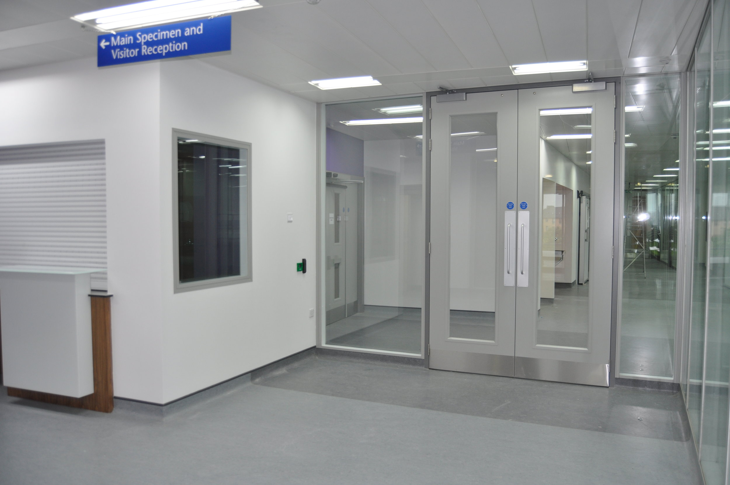 Glasgow Royal Infirmary - Glazed and Steel Partitions and Steel Doors