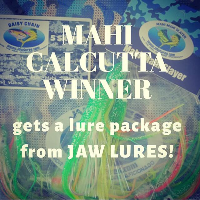 Mahi Calcutta Winner gets $ and a lure package from @jawlures