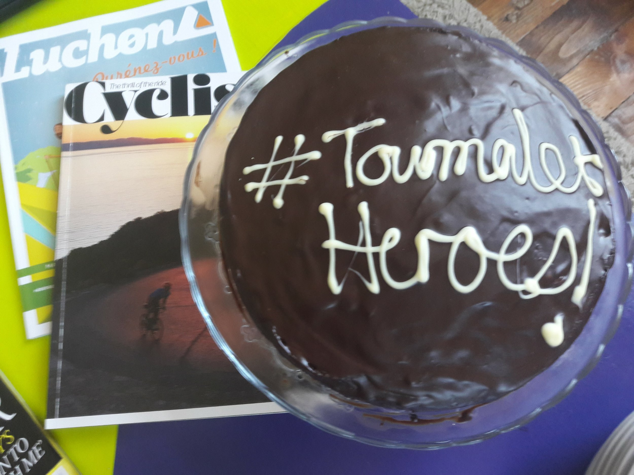 Cake to celebrate the conquering of one of the pyrenees giants - the Col du Tourmalet