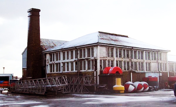 Building 86 at Sheerness Docks.