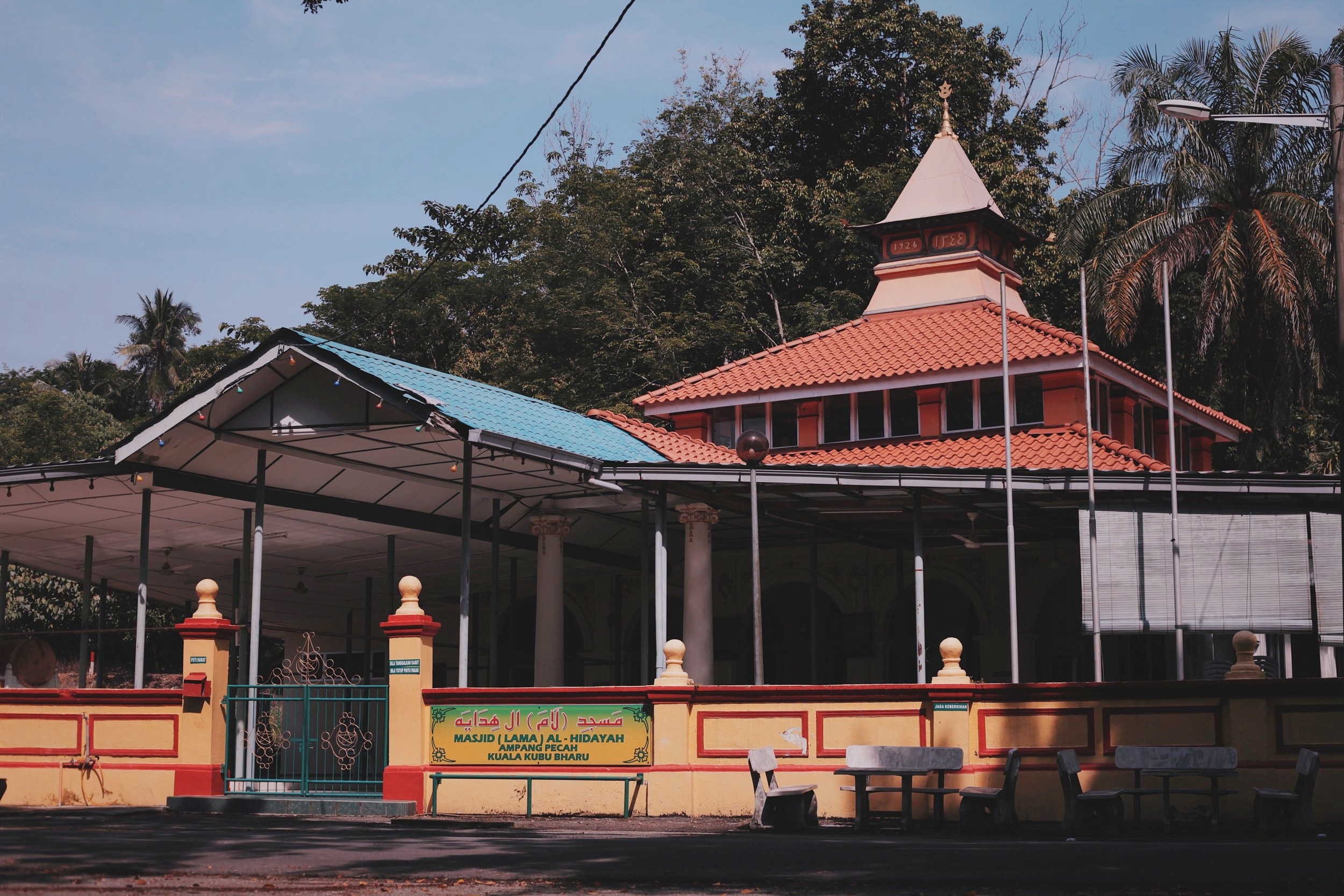The Mosque which marked the rebuilt town of Kuala Kubu after the tragedy