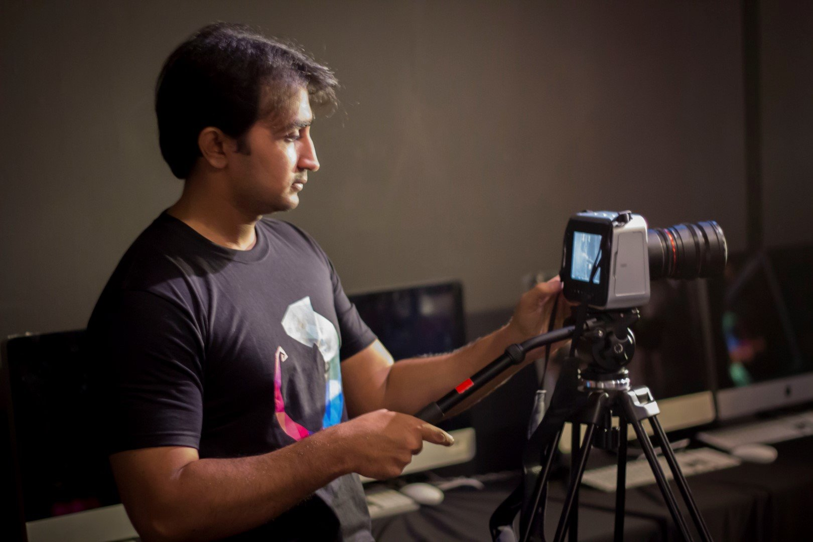 One of our videographers, Salman, documenting the festival