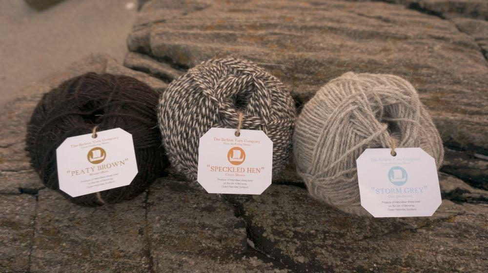 New DK knitting yarn with all new Birlinn Yarn labels.