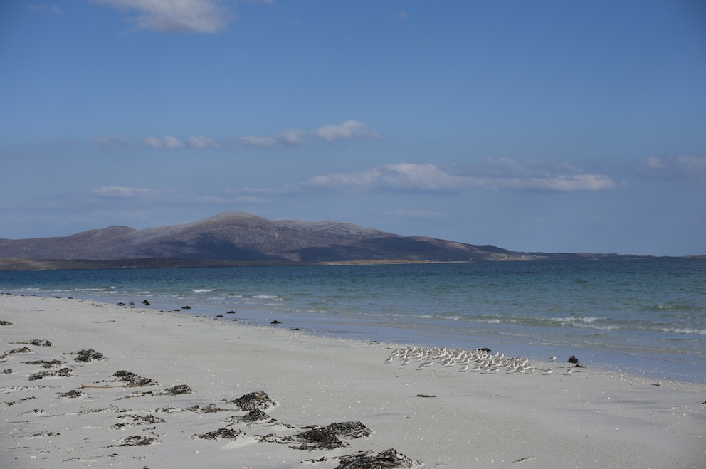 Baile beach just 2 min stroll from Lamraig cottage and overlooking the Sound of Harris.
