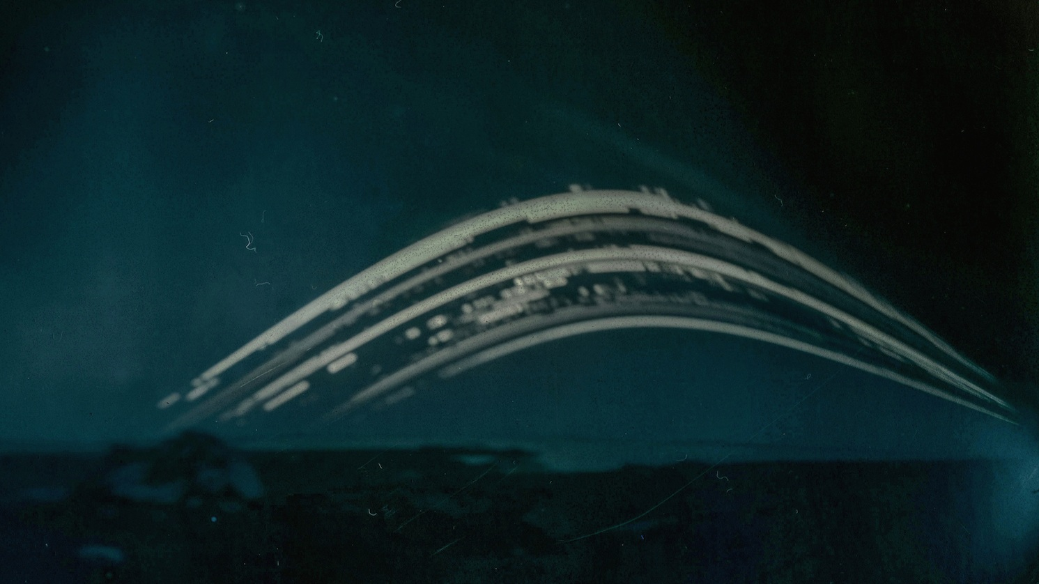 Solargraph in-situ at Neolithic kerbed cairn, Berneray - January - March 2017.