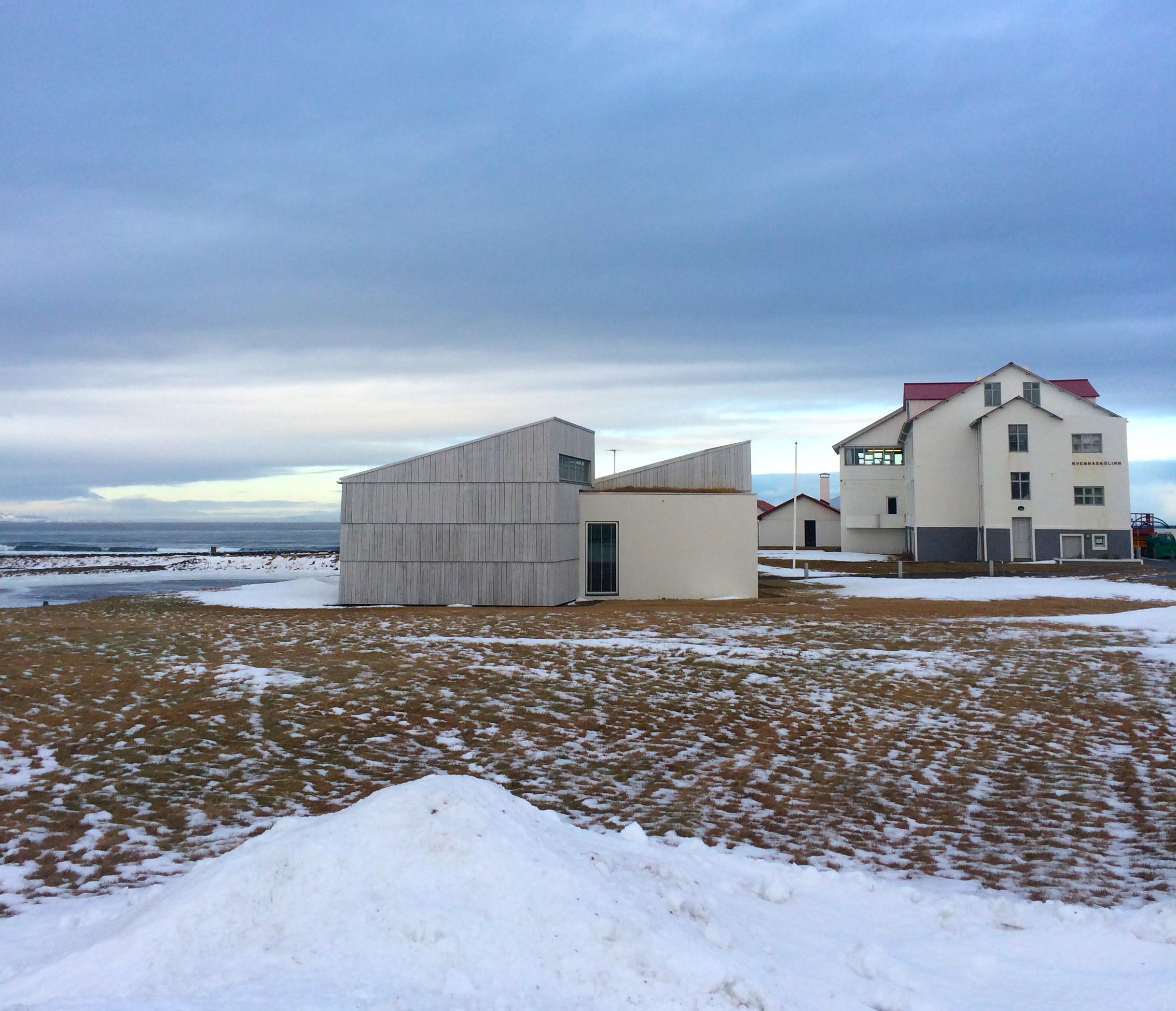 Icelandic Textile Museum (left) and Textile Centre (right), Blönduós.