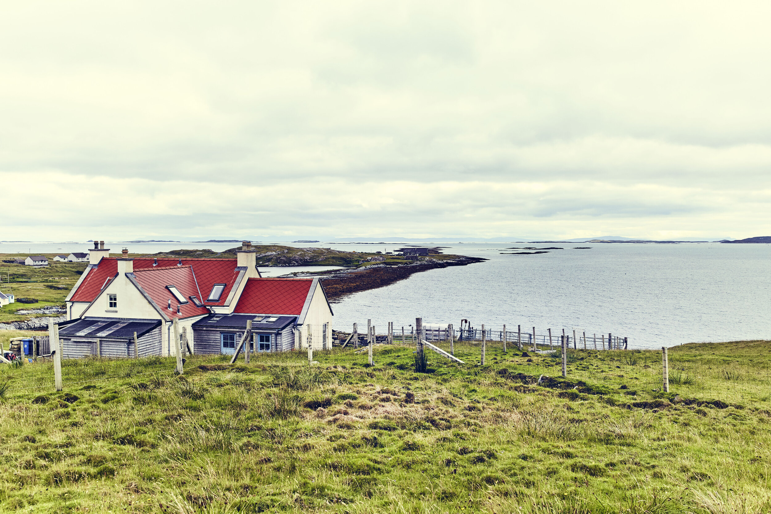 The back of Sunhill Croft looking over the Minch to the Isle of Skye.