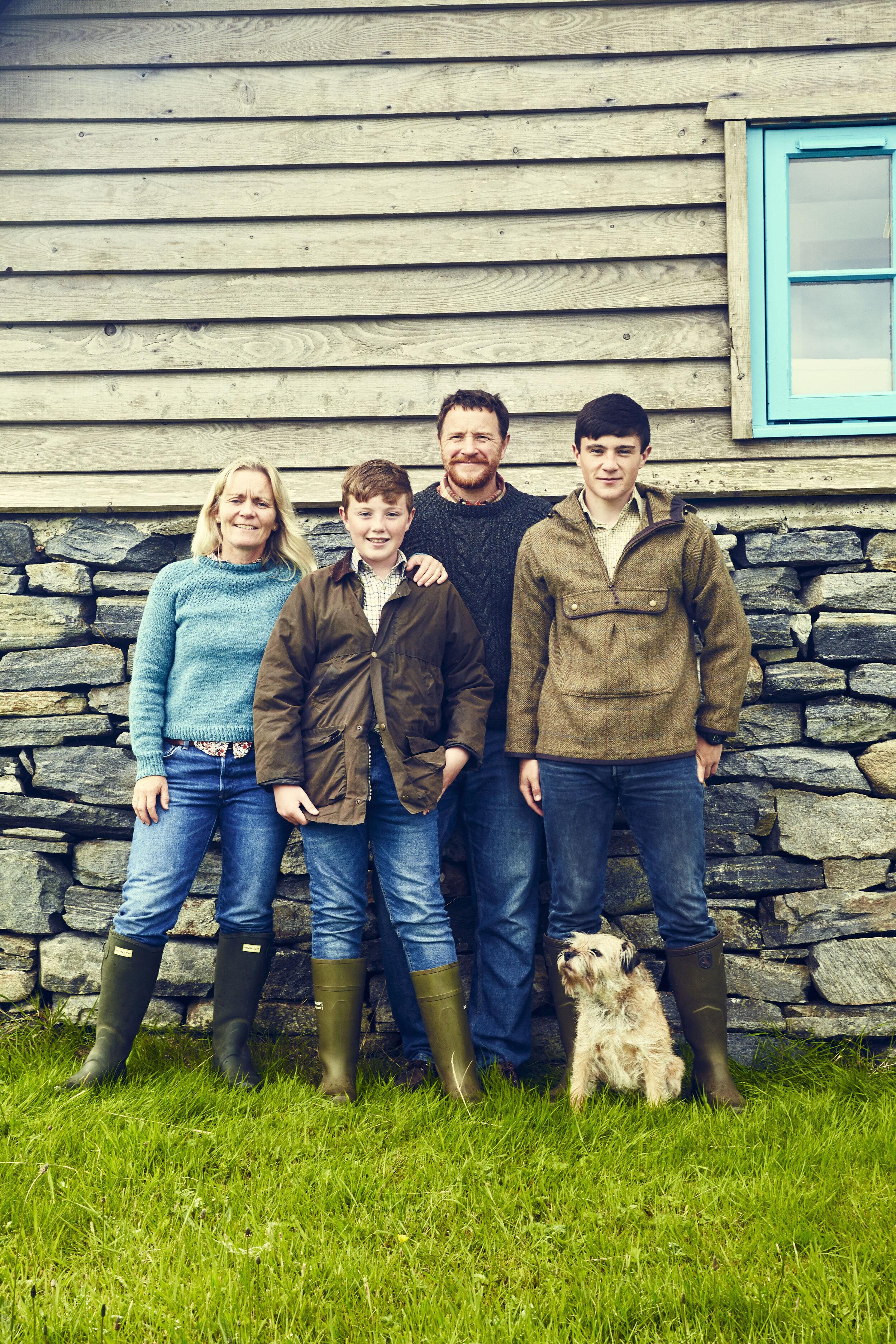 The Birlinn Yarn Company family team.