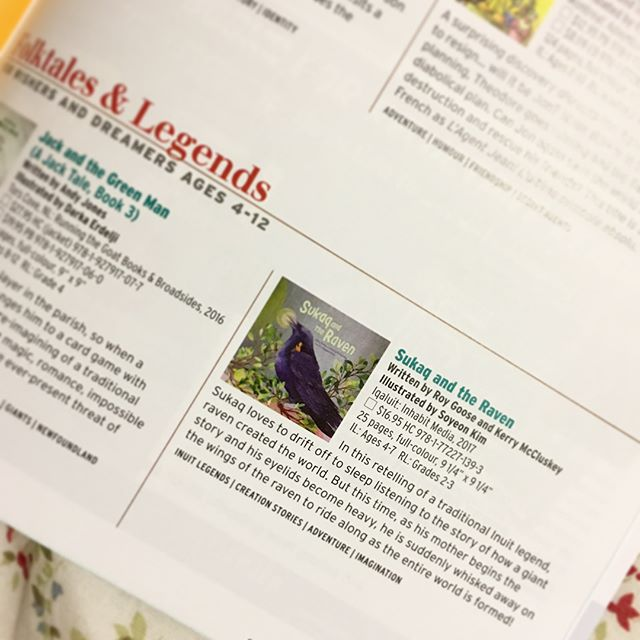 Sukaq and the Raven was featured in Best Books for Kids & Teens 2018 Spring Edition magazine by the Canadian Children's Book Centre! If you are a dreamer and wisher, make sure to check out Sukaq and the Raven 😉