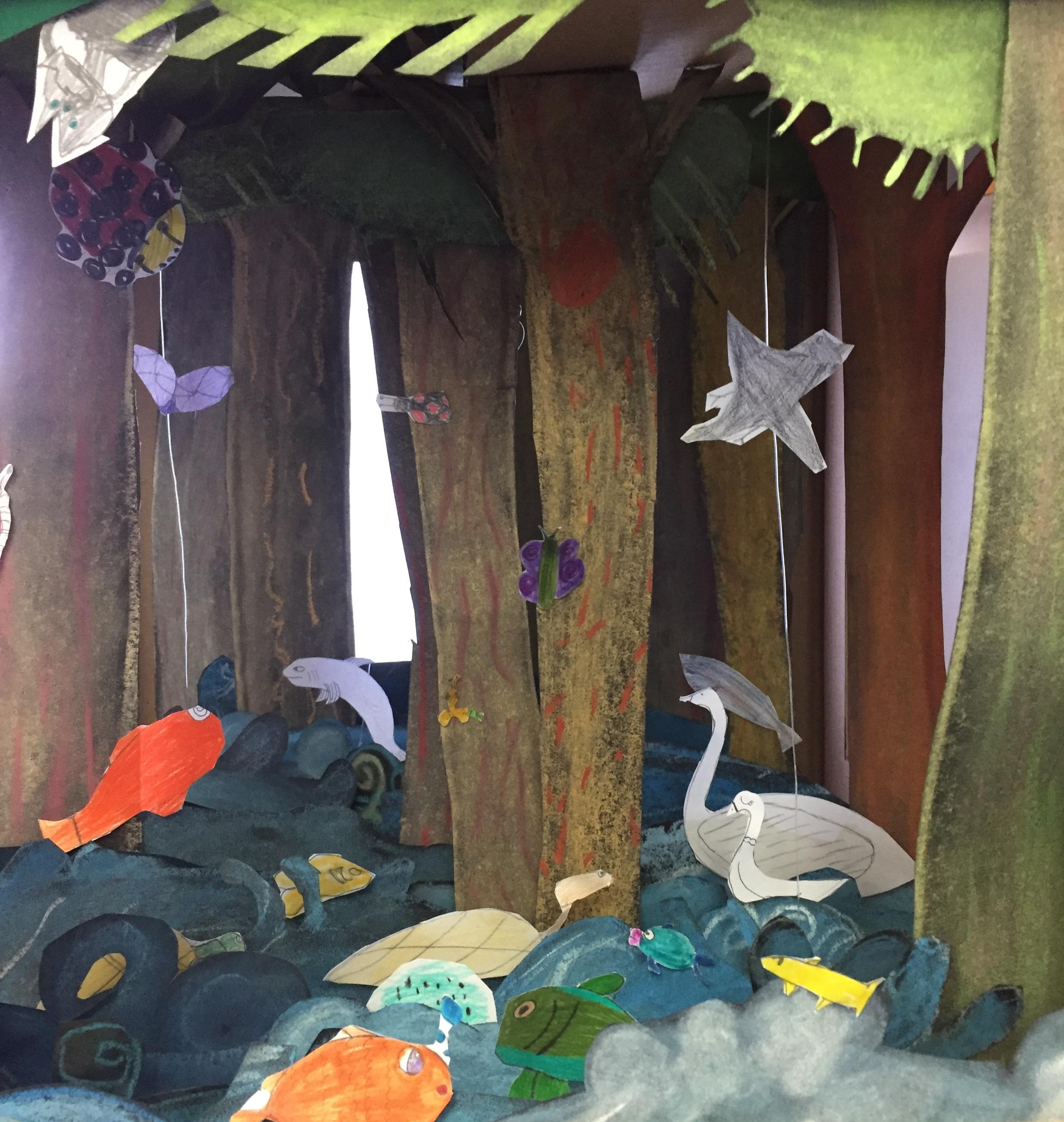 Diorama Workshop (Grade 5) ,  Fraser Lake, Northern BC, TD Book Week 2018