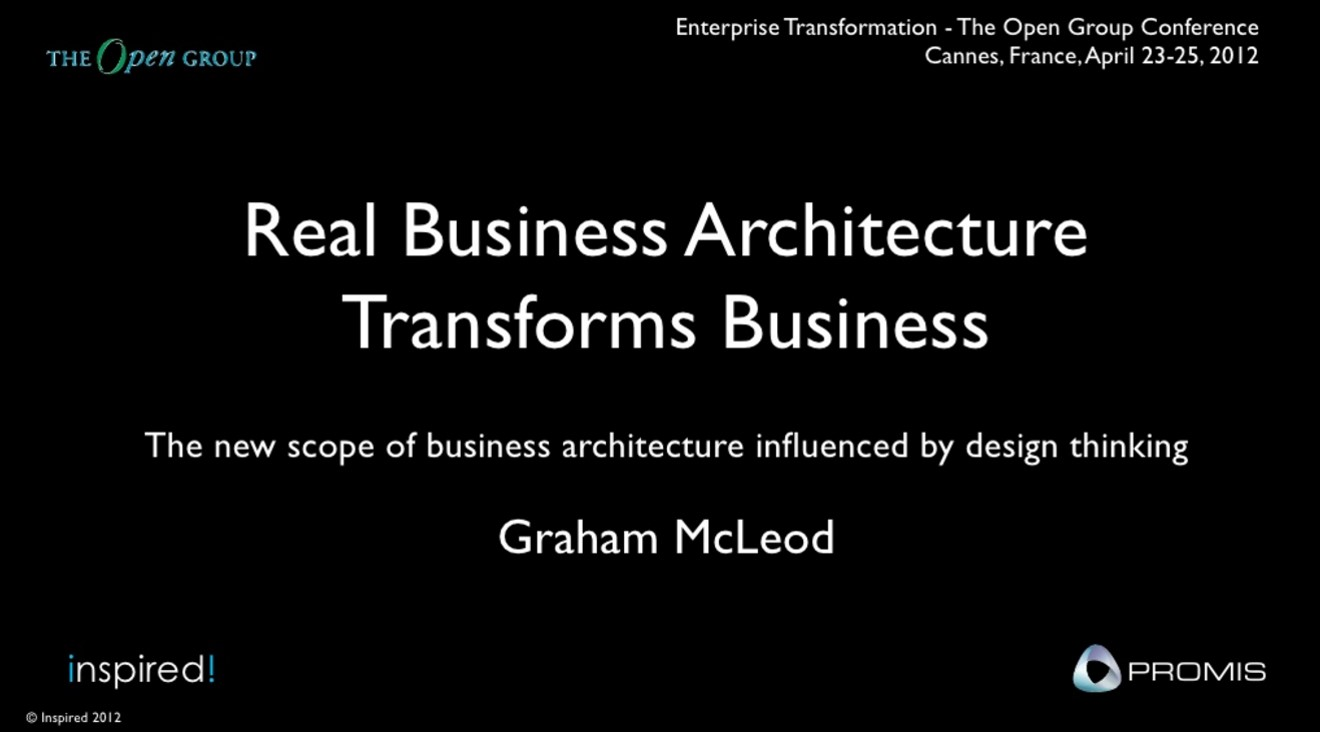 Real Business Architecture Transforms Business