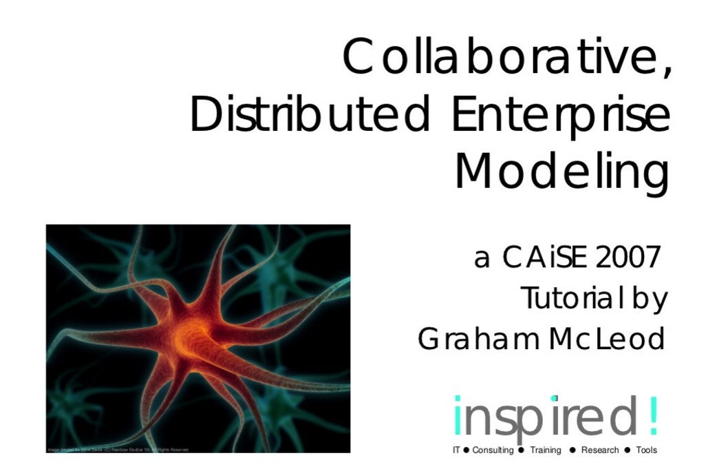 Collaborative, Distributed Enterprise Modeling