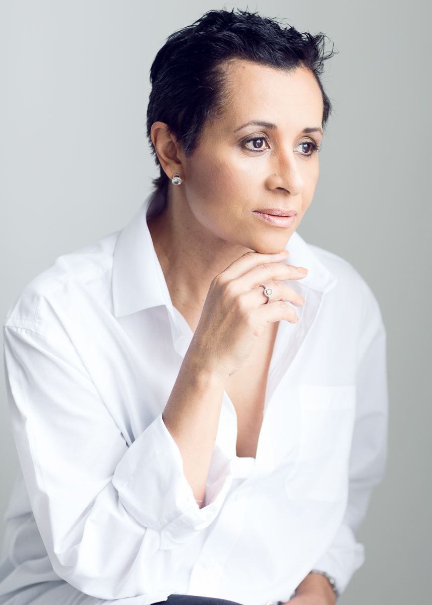 Professional Portraits for a business woman, in a white shirt. A white shirt can do wonders for an elegant portrait