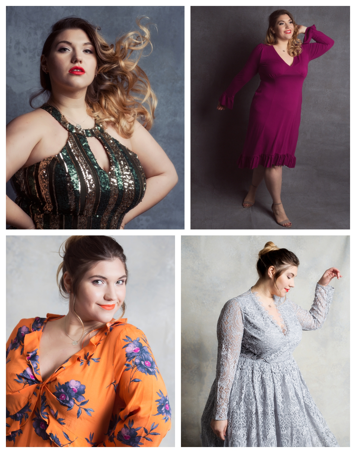 Plus size and curvy girls portrait session