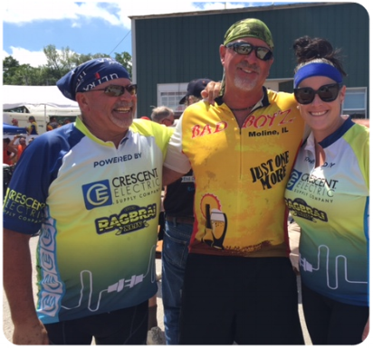 Mike Reckman – Koehler Electric (Davenport) – Mike found Steve because of his jersey!
