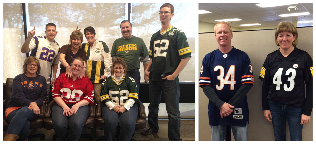 Crescent Electric's East Dubuque, IL, and Dubuque, IA, offices celebrated football season by showing off their favorite team gear.