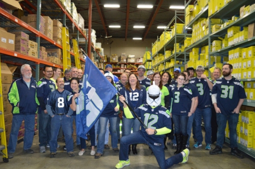 Our Seattle, WA, Stoneway branch celebrated Seattle Seahawks pride and the  Star Wars: The Force Awakens  movie premiere with a potluck and by showing  Episode IV – A New Hope  at the counter.