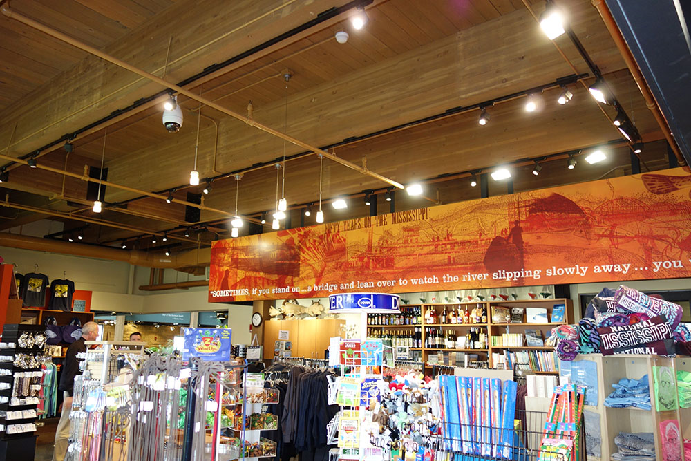 The gift shop at the National Mississippi River Museum & Aquarium.
