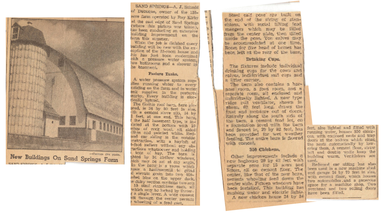 Dubuque Telegraph Herald Newspaper article, circa 1930s.