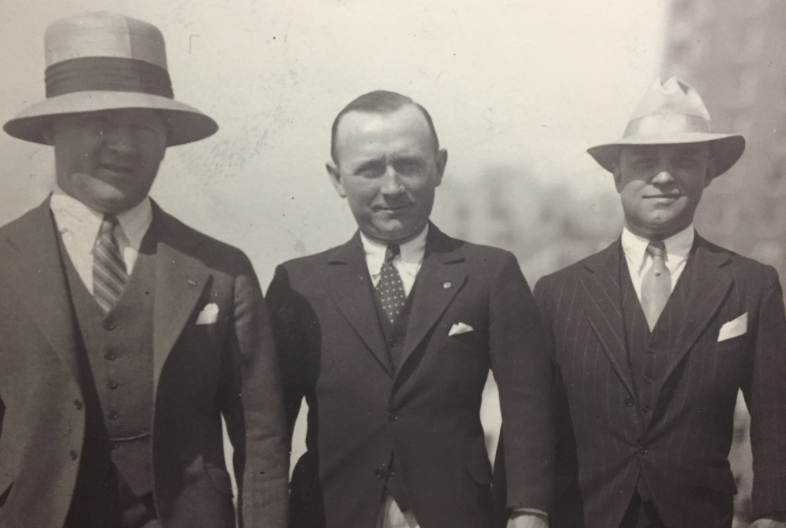 Pictured: Art Kies, Tom Kelley and Titus Schmid (circa 1926)
