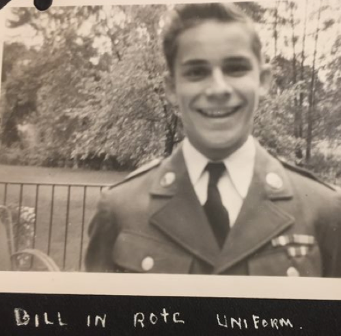 Little brother Bill in his ROTC uniform while Tom is home on leave: