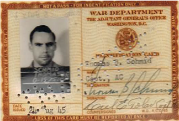 August 1945 Military ID