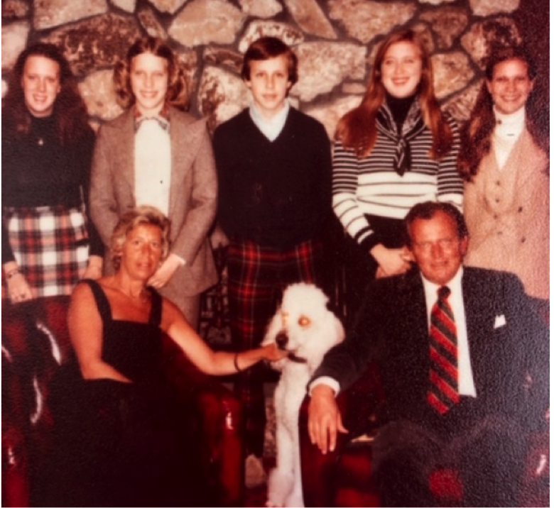 Jeanne and Bob Piekenbrock with their five children. (Circa 1976)