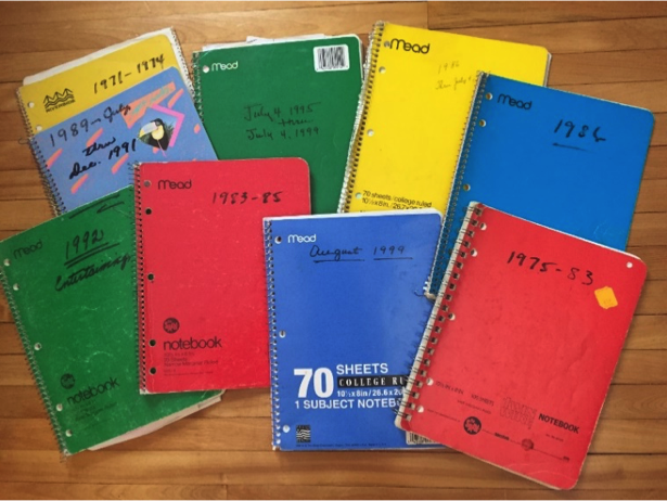 Mary's infamous notebooks!
