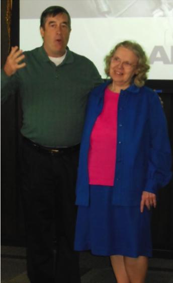 Jack Schmid thanksCarol for her50 years of serviceon behalf of theSchmid familyat a Shareholder Meeting in 2015. -