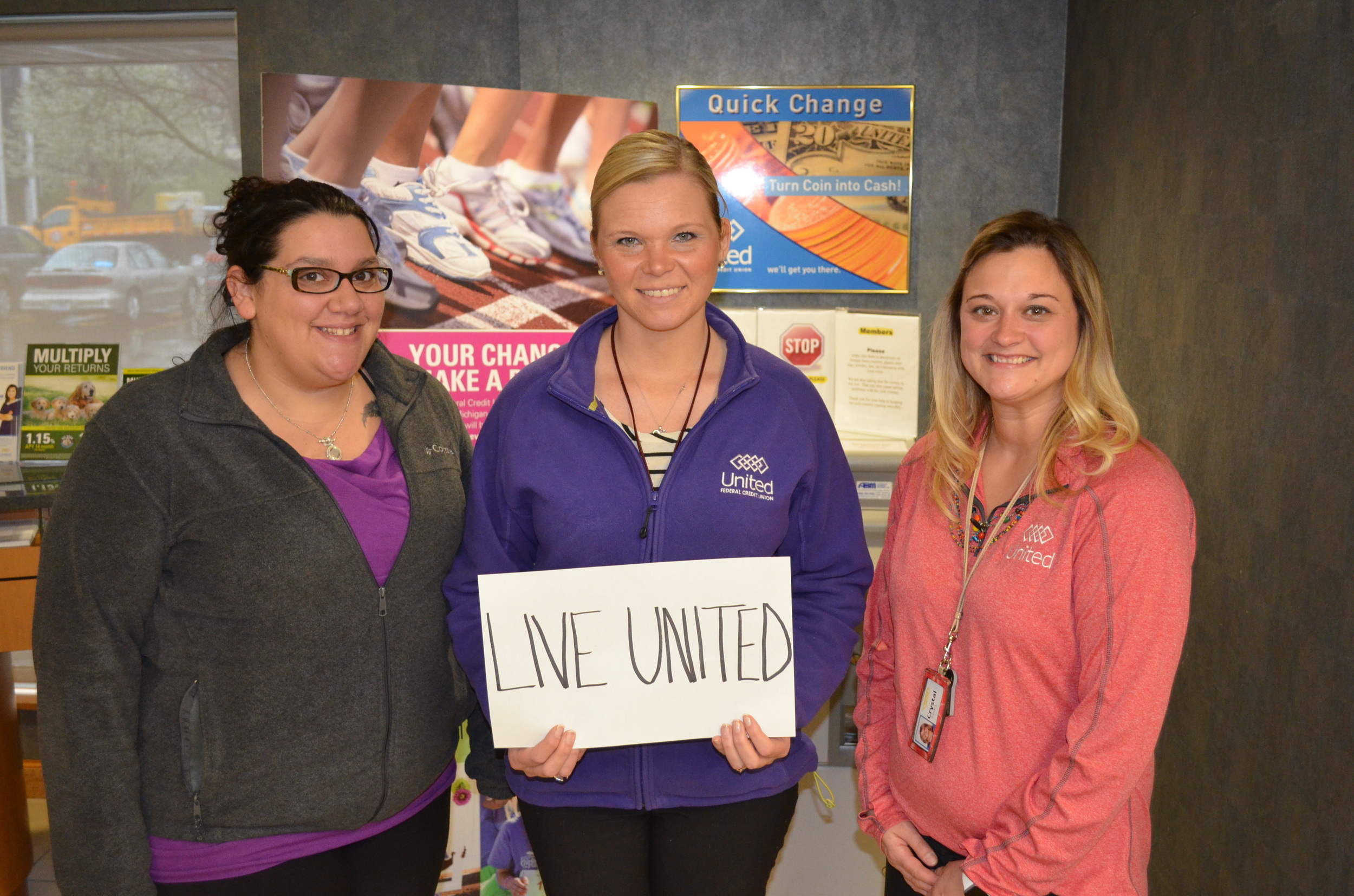 Niles Branch (left to right): Erin Fuson, Stephanie Tucker, Crystal Fouts