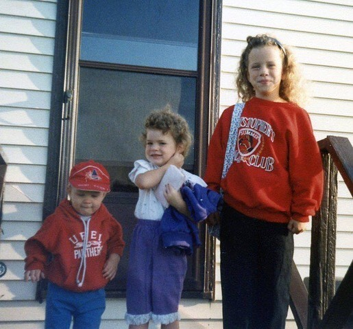 Couple nuggets heading to school! #tbt