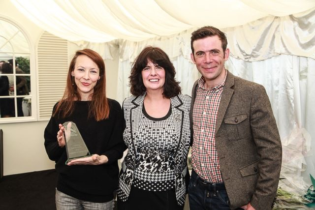 Sonnda being presented with her Scottish Baking Award, 2014