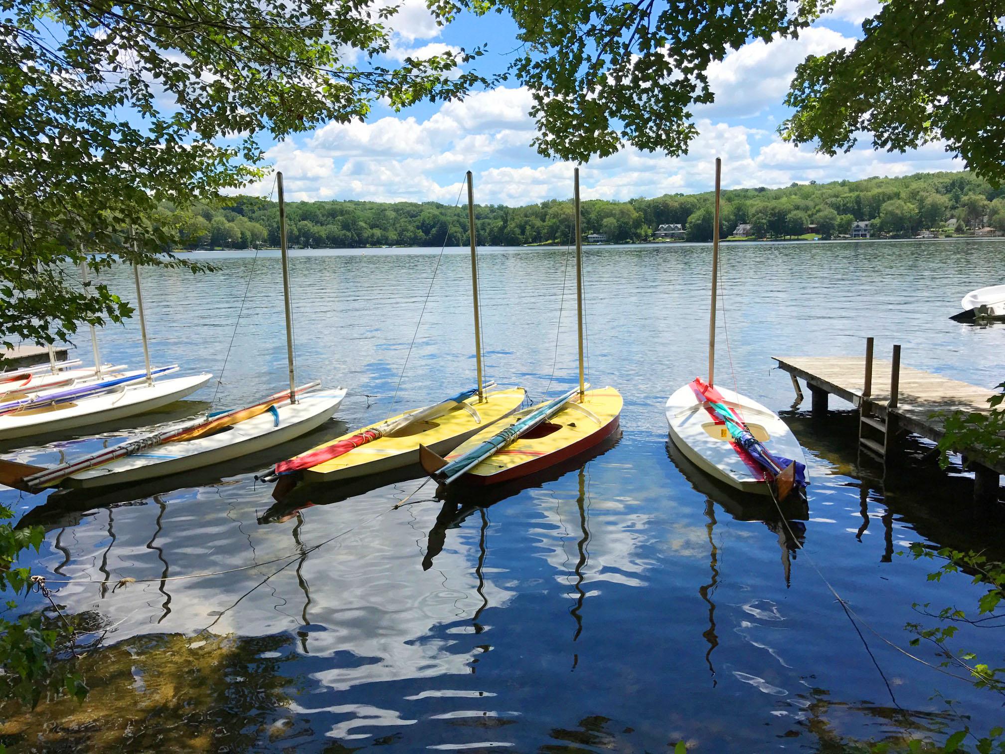 Copy of Sail Boats Waiting to Sail on Columbia Lake