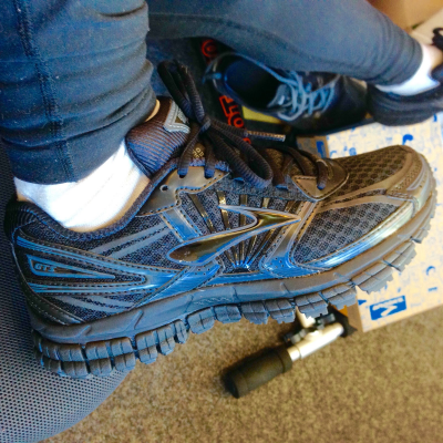 The offending Brooks GTS 15