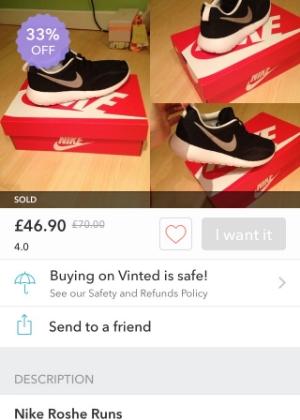 The ones that got away: Nike Roshe Runs on Vinted