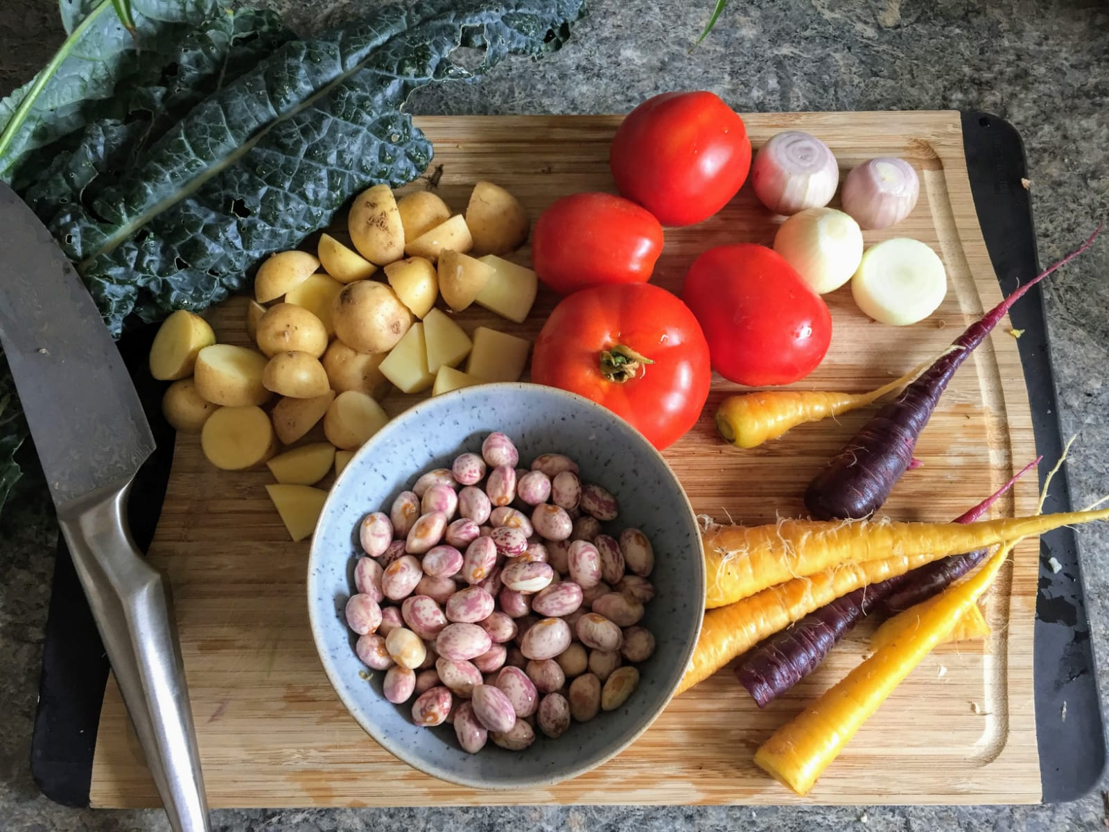 All the vegetables in the above image came from our garden. To see what we did with these ingredients,    see here   .