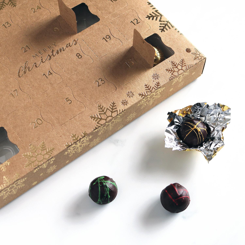 luxury vegan advent calendar with vegan chocolate truffles unboxing 1500.jpg