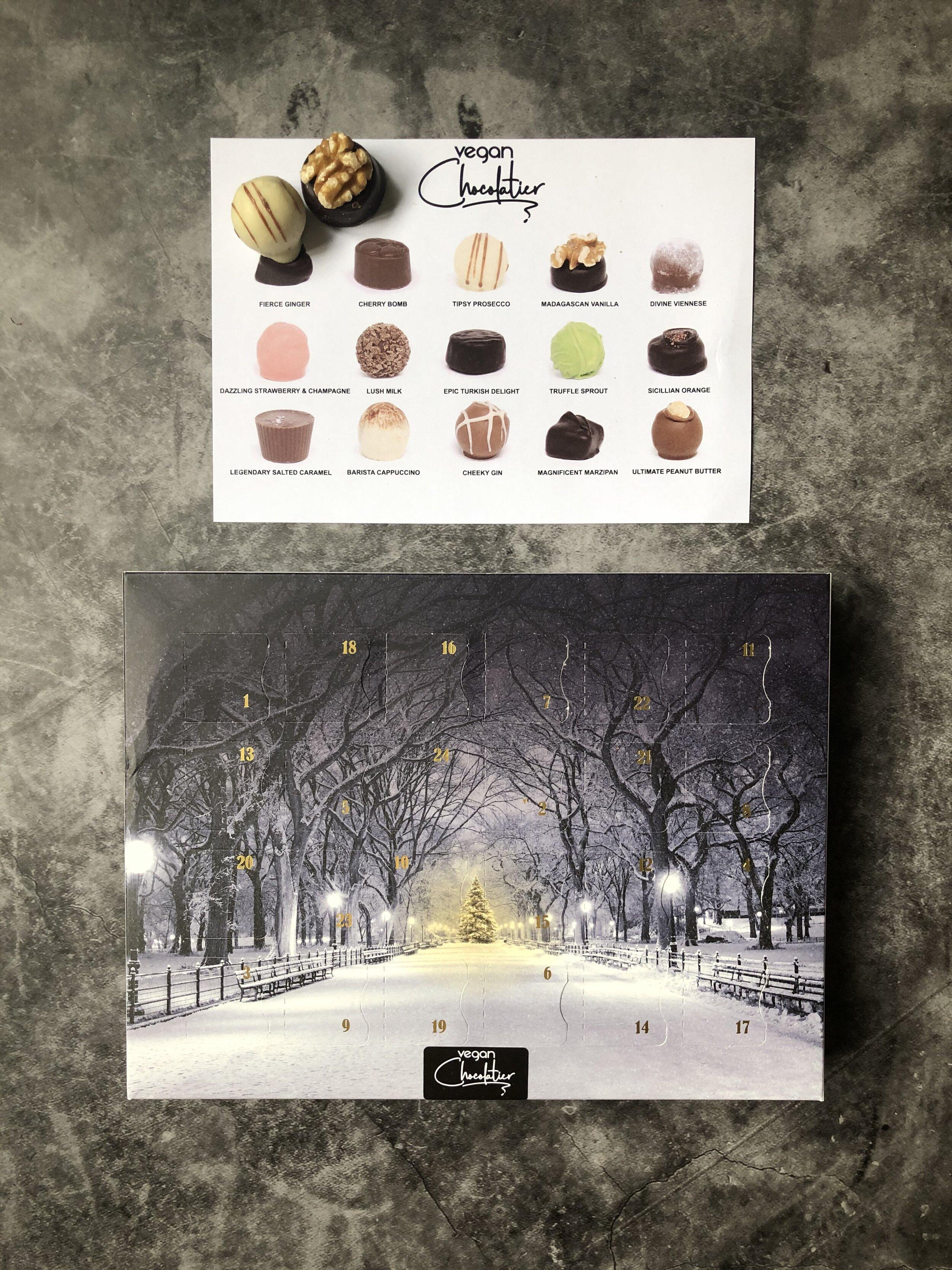 vegan chocolatier advent calendar