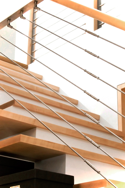 Stainless Steel Maple Staircase
