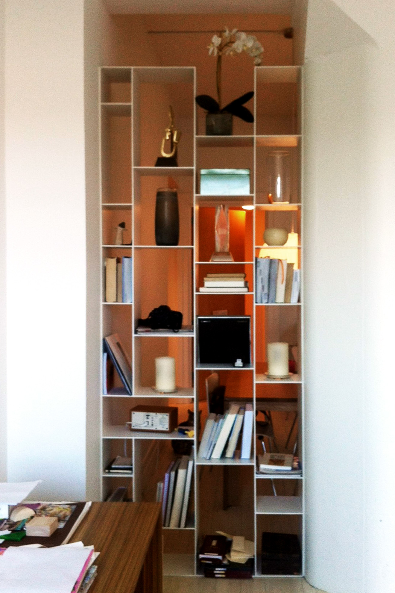 Metal Painted Bookcase
