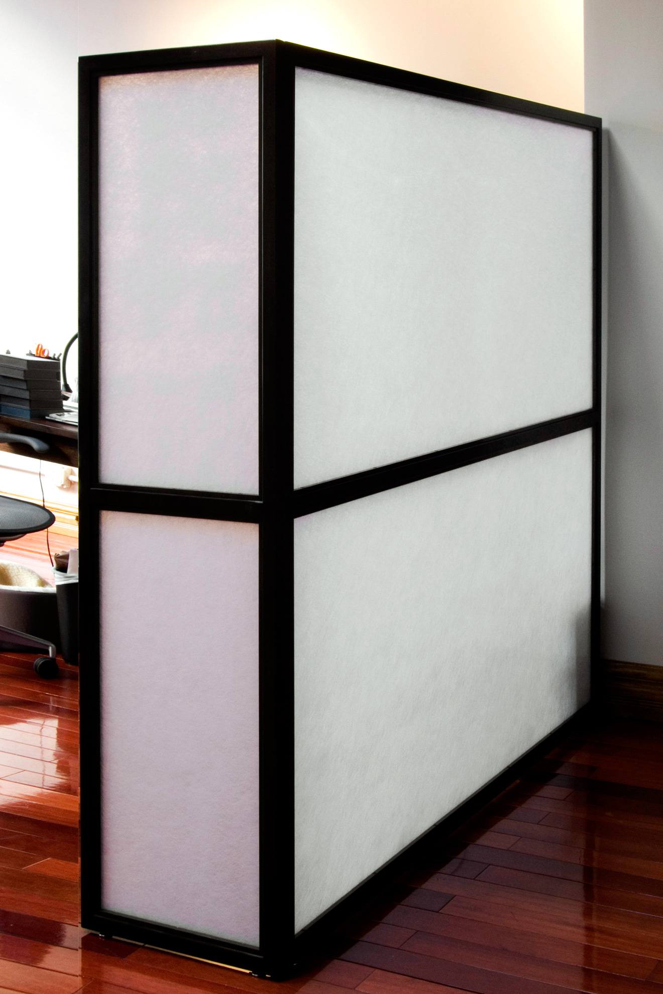 Glass & Petina Steel Office Divider