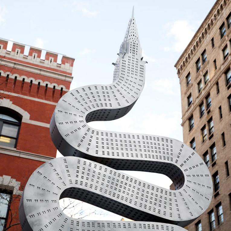 Copy of custom metal works sculpture