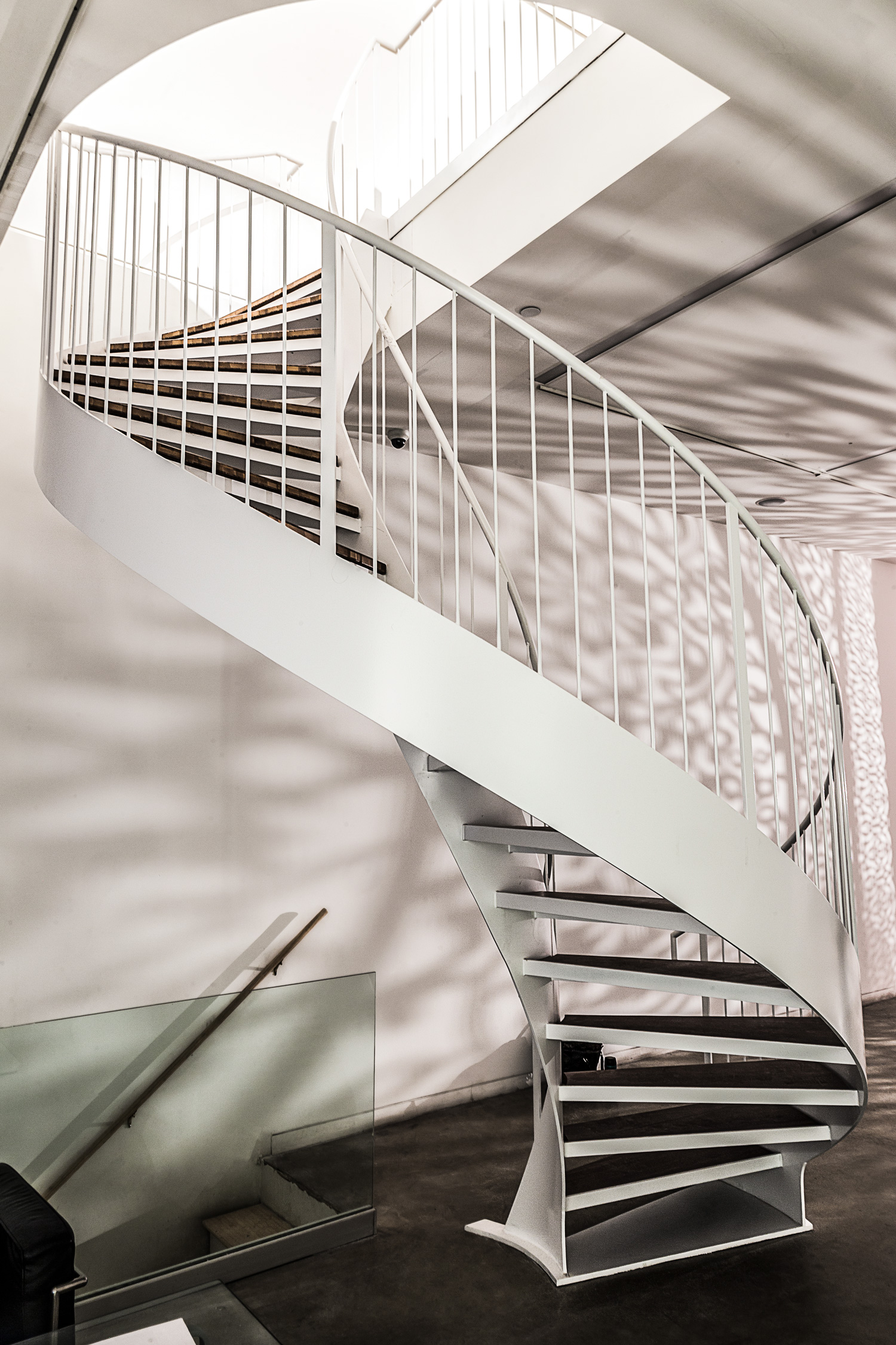 White Painted Helix Staircase