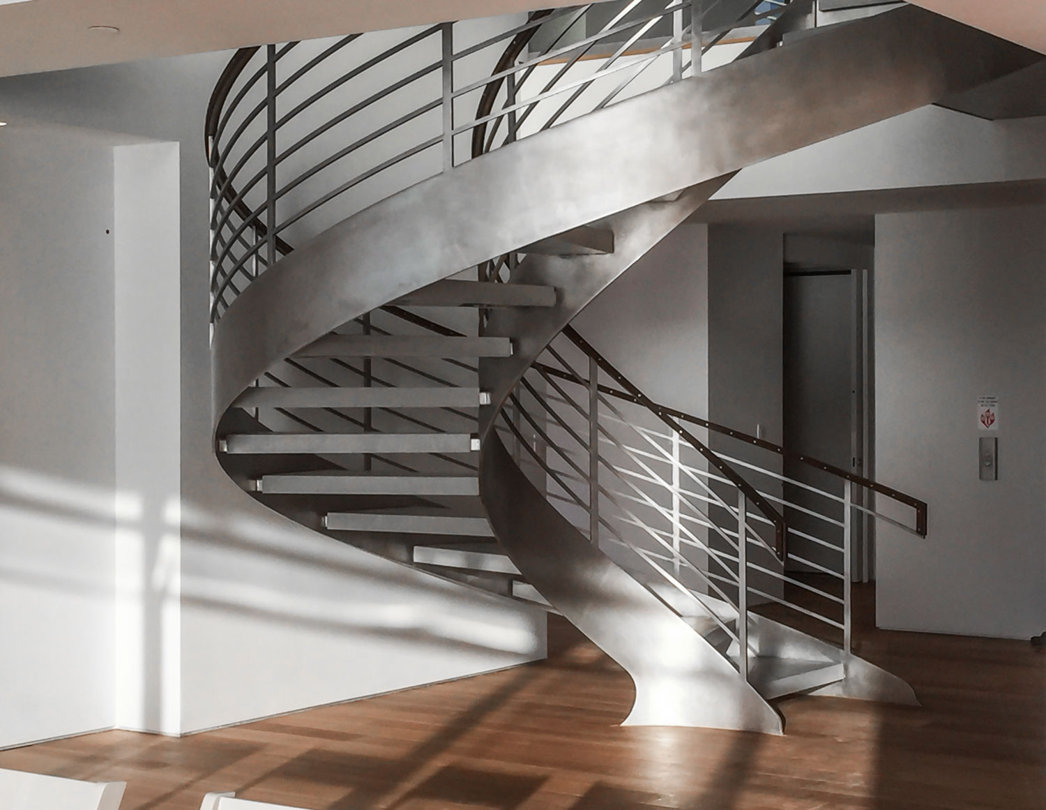 Helix with Steambent IPE wood Handrail