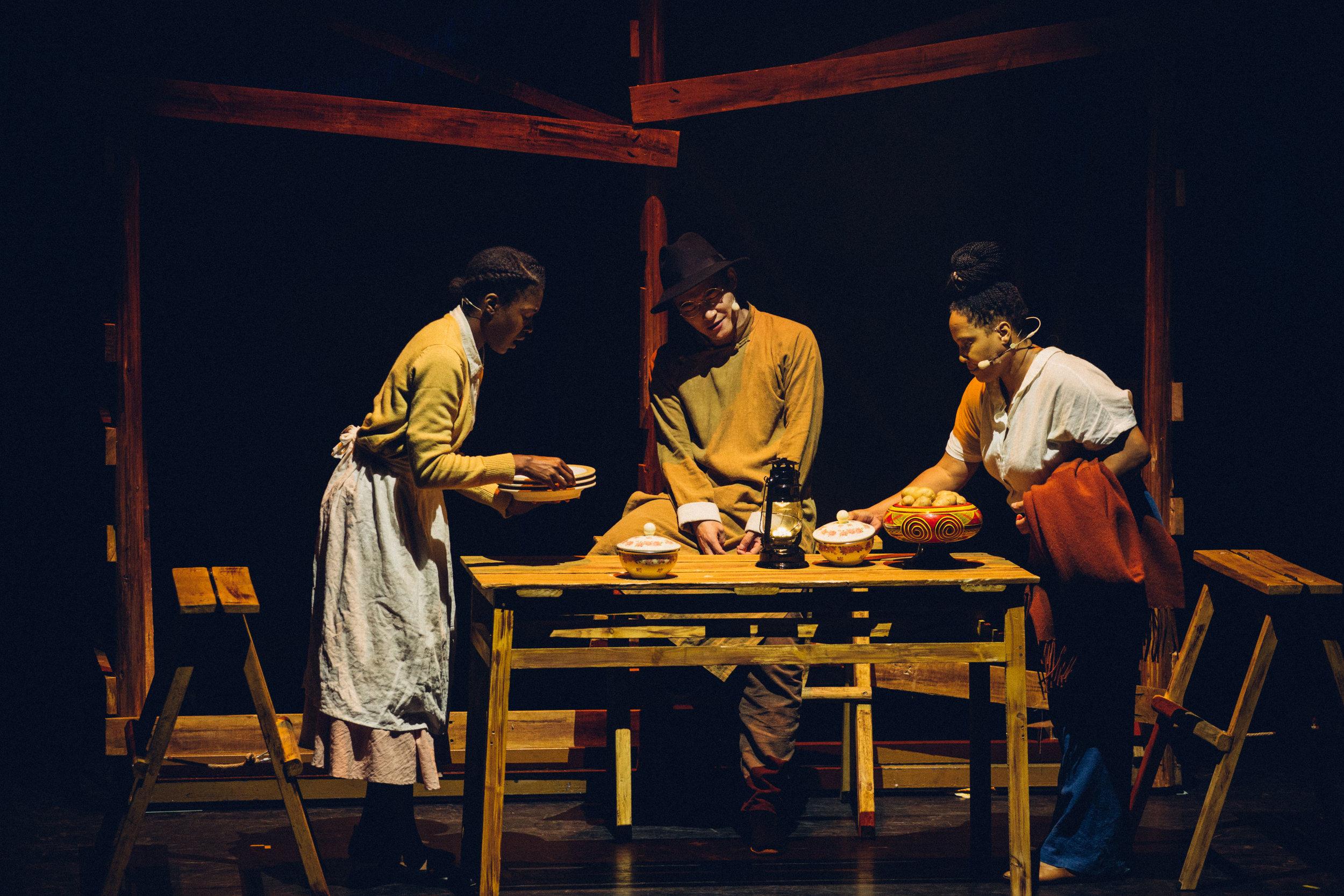 Left to right: Erin Pettigrew, Zhu Tiantian, and Karma Mayet Johnson.