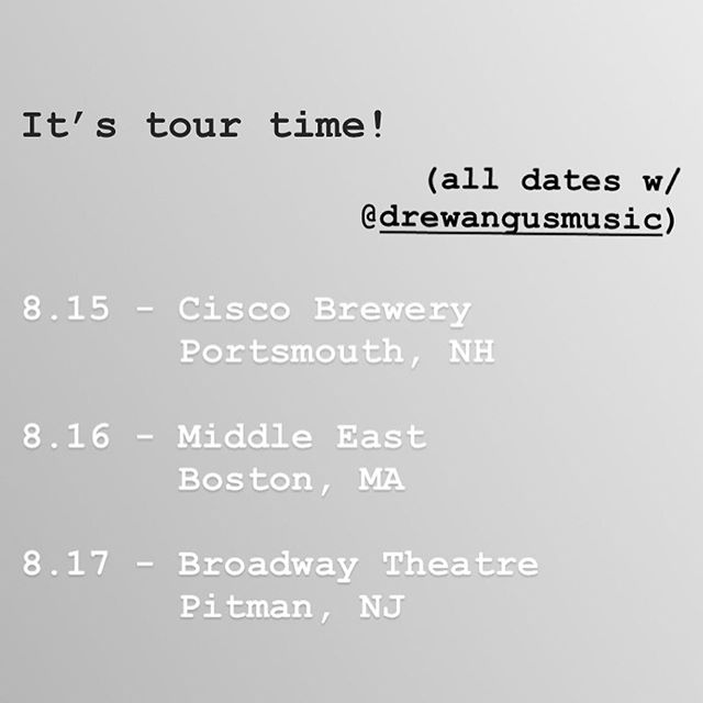Tour time! Message me for details, hope to see ya in *insert city here*. Here we goooooo....