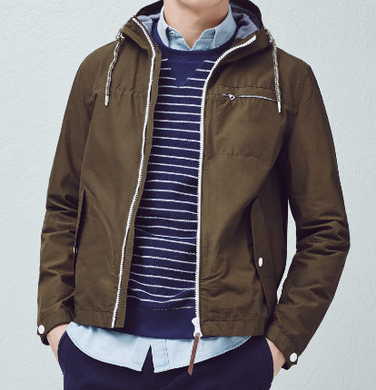 Mango Cotton-Blend Hooded Jacket
