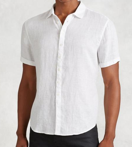 John Varvatos Linen Short Sleeve Shirt